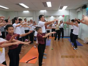 Qigong class in session.