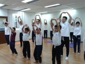 Qigong warm up routines.